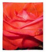 Blushing Orange Rose 7 Fleece Blanket