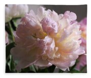 Blushing Peony Fleece Blanket