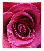 Blushing Pink Rose 3 Fleece Blanket