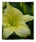 Blushing Yellow - Lilies Fleece Blanket