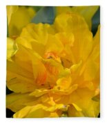 Blushing Yellow Fleece Blanket