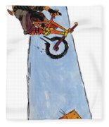 Bmx Drawing Fleece Blanket