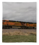 Bnsf Train 5833 A Fleece Blanket
