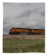 Bnsf Train 5833 B Fleece Blanket