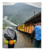 Boarding The Durango Silverton Narrow Fleece Blanket