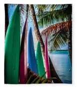 Boards Of Surf Fleece Blanket