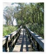 Boardwalk At Tifft Nature Preserve Buffalo New York Fleece Blanket