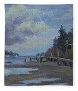 Boardwalk On Vashon Island Fleece Blanket