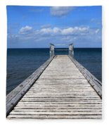 Boardwalk To The Ocean Fleece Blanket