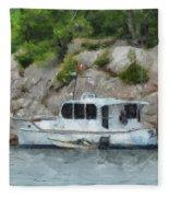Boat Break Fleece Blanket