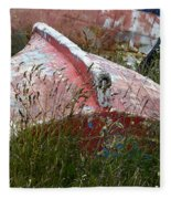 Boat Graveyard Peurto Natales Chile 6 Fleece Blanket