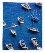 Boat Parking Fleece Blanket