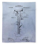 Boat Propeller Patent Drawing 1911 Fleece Blanket