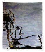 Boat Reflections Fleece Blanket