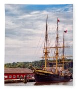 Boat - Sailors Delight Fleece Blanket