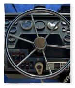 Boat Steering Wheel Fleece Blanket