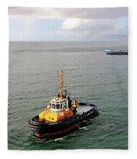 Boat - Tugboat Barbados II Fleece Blanket