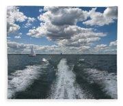 Boat Wake 01 Fleece Blanket