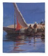 Boat Yard, Kilifi, 2012 Acrylic On Canvas Fleece Blanket
