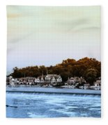 Boathouse Row And Farmount Dam Fleece Blanket