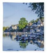 Boathouse Row In September Fleece Blanket