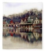 Boathouse Row Philadelphia Fleece Blanket