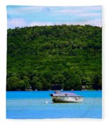 Boating At Sleeping Bear Dunes Lake Michigan Fleece Blanket