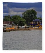 Boating On Lake Erie Fleece Blanket