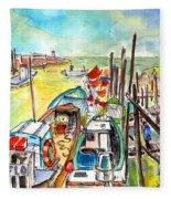Boats And Boardwalks By Brittany 02 Fleece Blanket