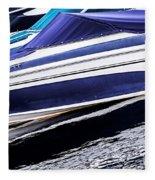 Boats And Reflections Fleece Blanket