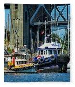 Boats And Tugs Hdrbt3221-13 Fleece Blanket
