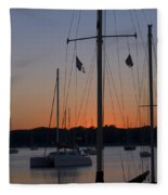 Boats At Beaufort Fleece Blanket