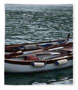 Boats At Rest Fleece Blanket