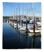 Boats At Rest. Sausalito. California. Fleece Blanket