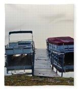 Boats By The Dock Fleece Blanket