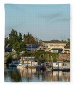 Boats In A River, Walnut Grove Fleece Blanket