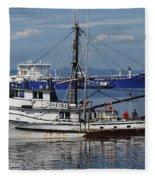 Boats Of The North West Fleece Blanket