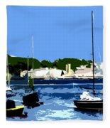 Boats On Strangford Lough Fleece Blanket