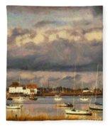 Boats On The River Fleece Blanket