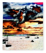 Boats  Fleece Blanket