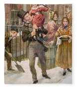 Bob Cratchit And Tiny Tim Fleece Blanket
