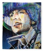 Bob Dylan Tangled Up In Blue Fleece Blanket