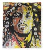 Bob Marley 02 Fleece Blanket