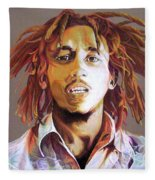Bob Marley Earth Tones Fleece Blanket