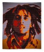 Bob Marley Lego Pop Art Digital Painting Fleece Blanket