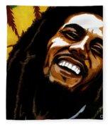Bob Marley Rastafarian Fleece Blanket