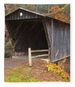 Bob White Covered Bridge Fleece Blanket