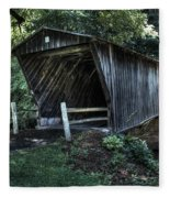 Bob White's Covered Bridge Fleece Blanket