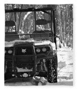 Bobcat Atv In Winter Fleece Blanket