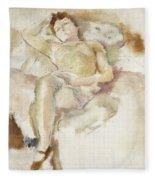 Bobette Lying Down Bobette Allongee Fleece Blanket